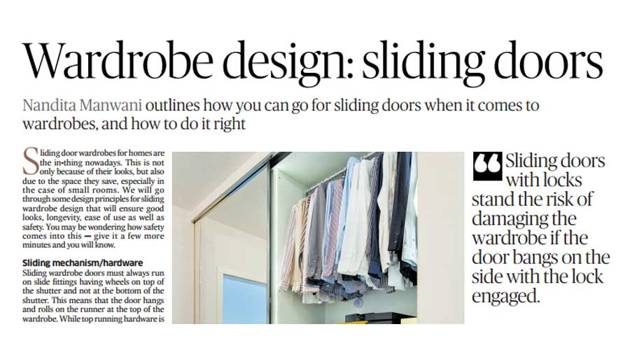 Sliding Door wardrobe construction best practices