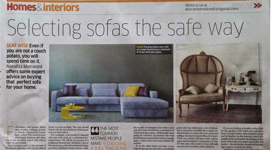 How to select the right sofa for your new home